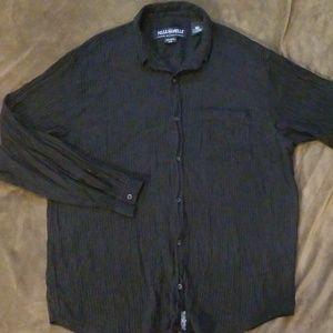 Pelle Pelle Corduroy Long Sleeve Button Down Shirt